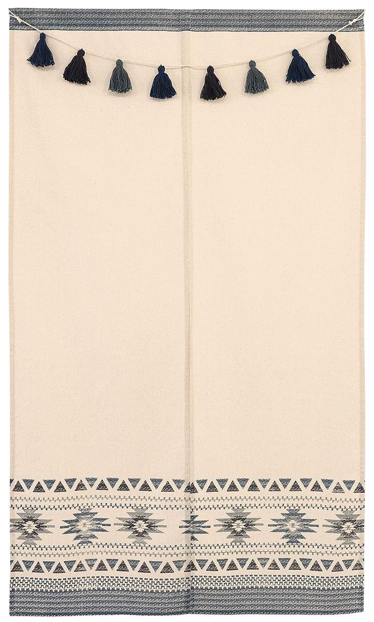 台無しに感性トリプルアコーディオン カーテン 間仕切り のれん 目隠し 遮熱 北欧調 カーブライン 100×250 cm丈