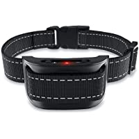 NPS No Shock Bark Collar for Small to Large Dogs - Smart Chip Adjusts to Stop Barking in 1 Minute - Highly Effective Vibration and Sound Stops Barks Fast with No Pain - Safe, Anti-Bark Device (Black)