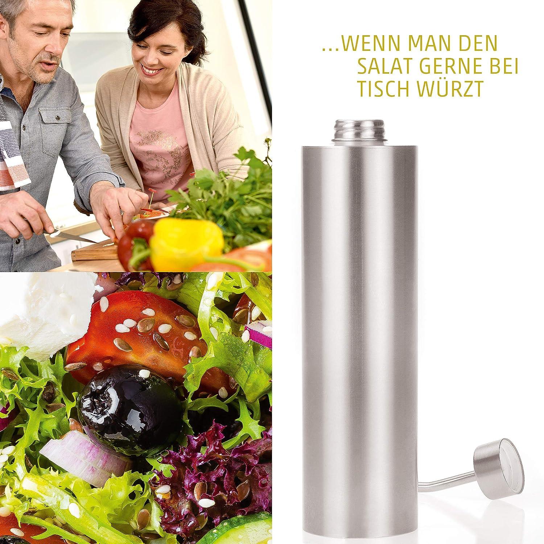 Edelstahl /Öl-Spender f/ür Oliven/öl 500ml 4smile /Ölflasche mit Ausgie/ßer