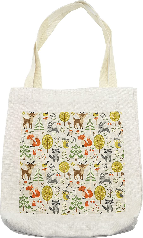 Handmade Cotton Canvas Eco Reusable Shopping Tote Bag Print Colorful Owls