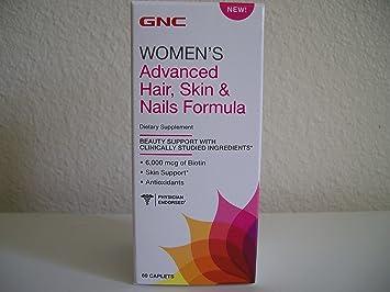 GNC Womens Advanced Hair, Skin Nails Formula 60 Caplets