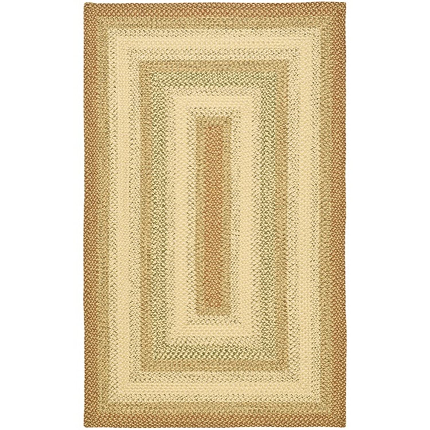 Safavieh Braided Collection BRD303A Hand Woven Rust and Multi Area Rug, 4 feet by 6 feet (4' x 6') BRD303A-4