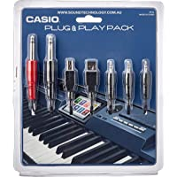 Plug and Play Casio Plug and Play Accessories Pack for Keyboards or Pianos, Black, (PP16)