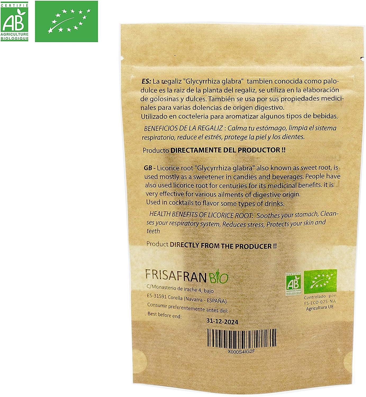 FRISAFRAN - Regaliz de palo Ecologico certificado (50Gr): Amazon.es: Alimentación y bebidas