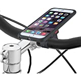 Tigra Sport MountCase Cycling Bike Kit Including MountCase, Waterproof Rain Guard and Handlebar Mount Strap Compatible with iPhone 6 Plus/6S Plus - Black