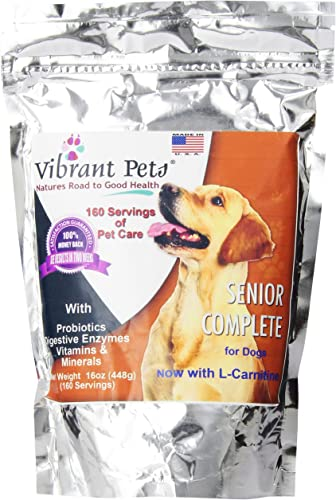 Vibrant Pets SC16 Senior Complete Dog Immune System Supplement Older Dog Muscle and Joint Supplement