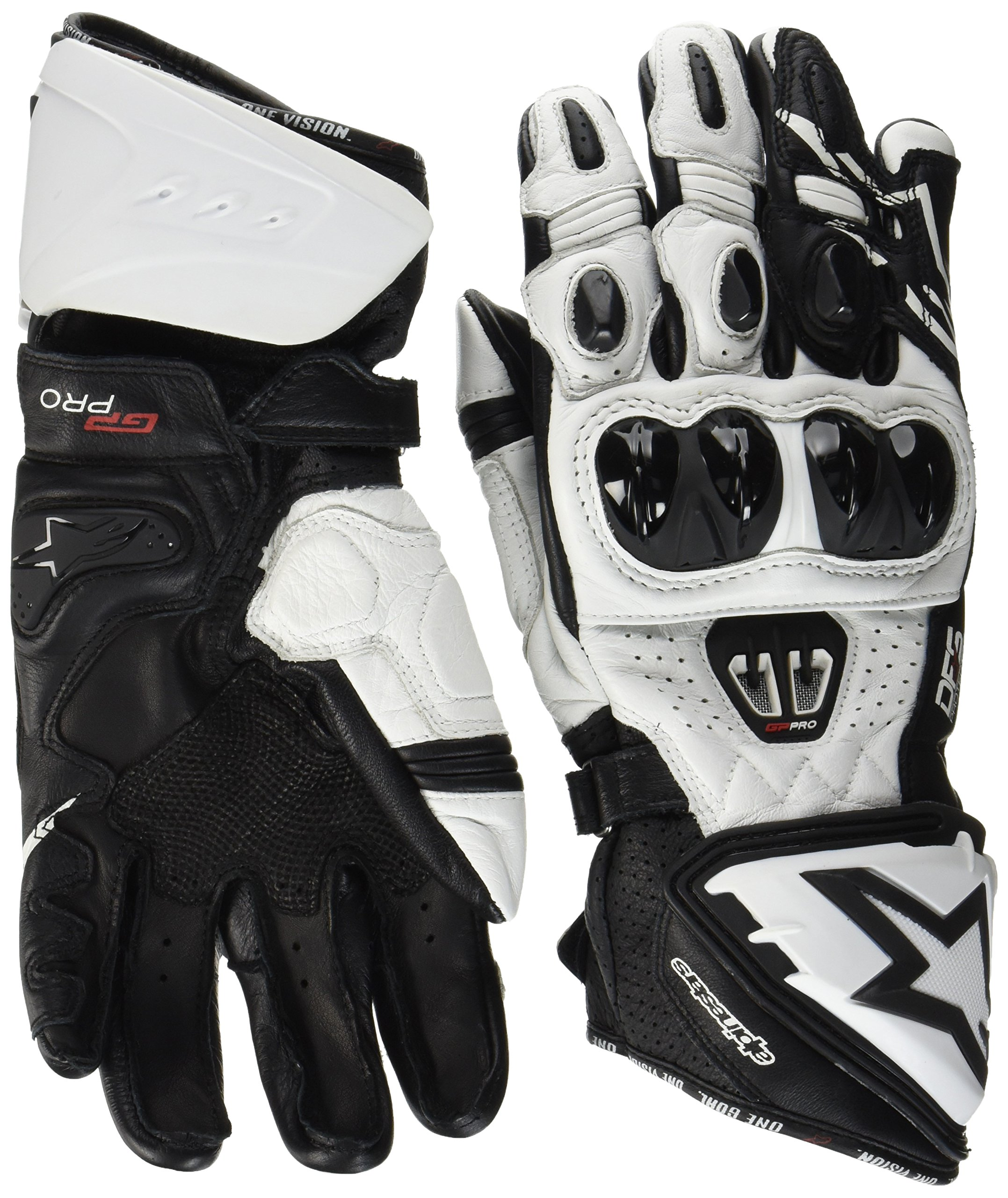 Alpinestars Men's GP Pro R2 Leather Glove (Black/White, Medium)