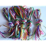 10 x 1m x 3 millimetri 1/8 Satin Ribbon Assorted bundle colours 10 metres Wedding Favours Decorative Easter Christmas 3mm 3 mm