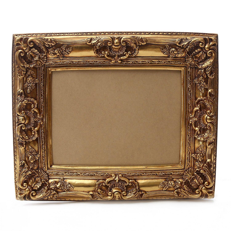 Starline Großer Barock Bilderrahmen 75x85 / 50x60 cm Gold (Antik) Im ...