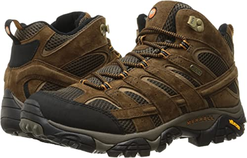 The Merrell Moab 2 mid waterproof hiking boots.