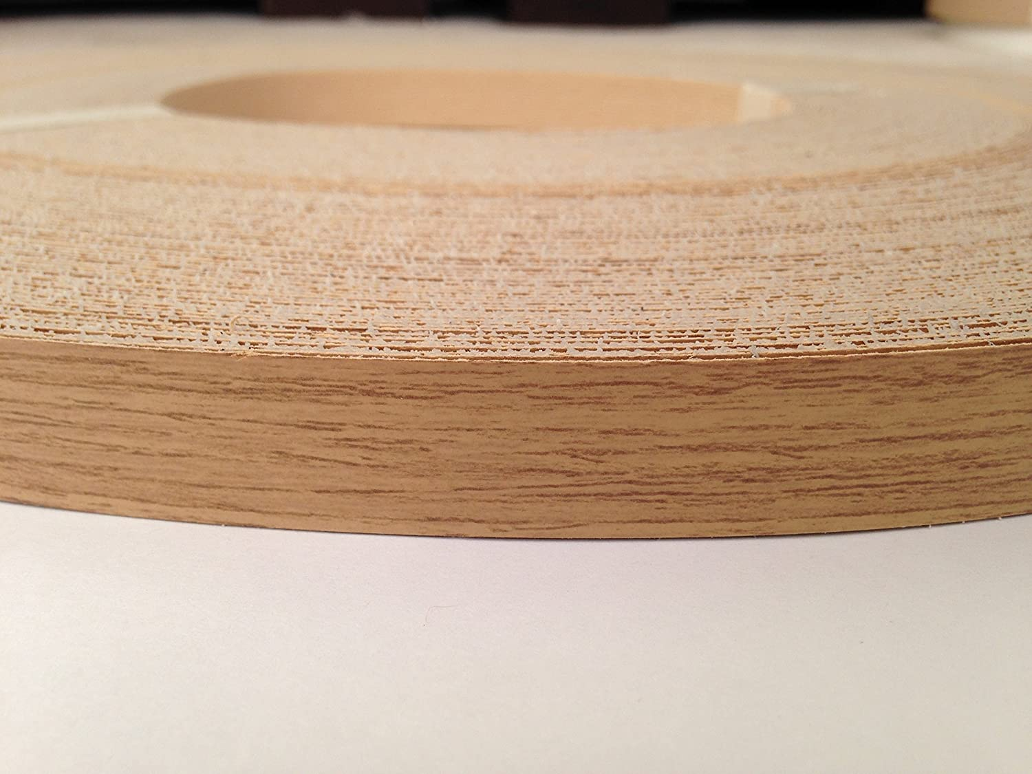 Pre Glued Iron on Classic Oak Melamine Edging Tape 19mm wide x 5 metres ...Free Postage Melamine edging 19mm wide