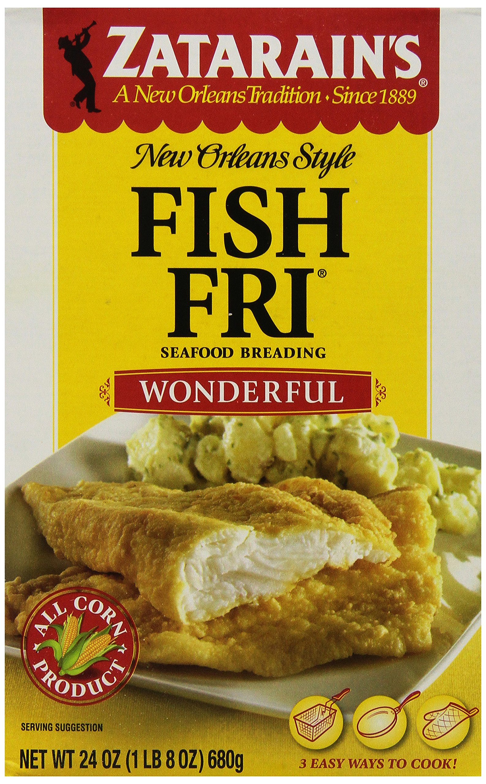 ZATARAIN'S Wonderful Fish Fri, 24-Ounce (Pack of 6)