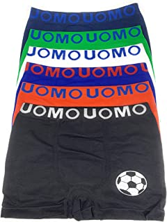 90b9beae35 Laake 6 Jungen Unterhosen Kinder Unterwäsche Retro-Pants Boxer Shorts Uomo  Sportwäsche Gr 104-