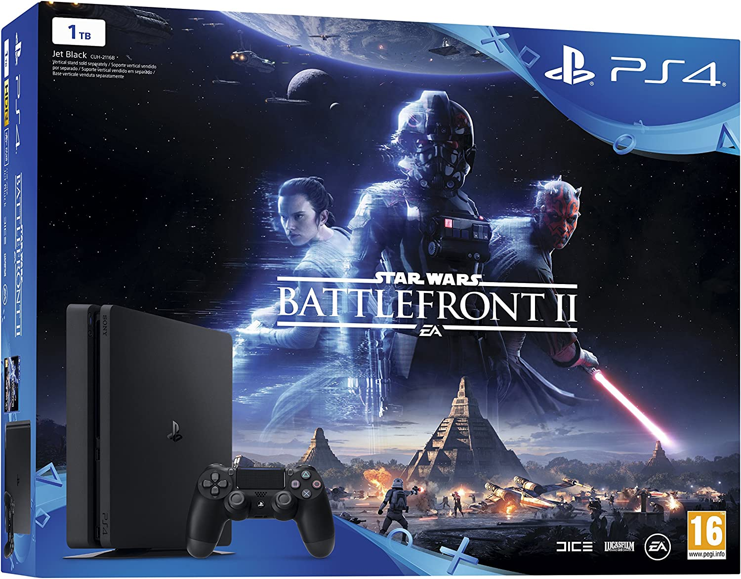 PlayStation 4 (PS4) - Consola 1 TB + Star Wars Battlefront: Amazon ...