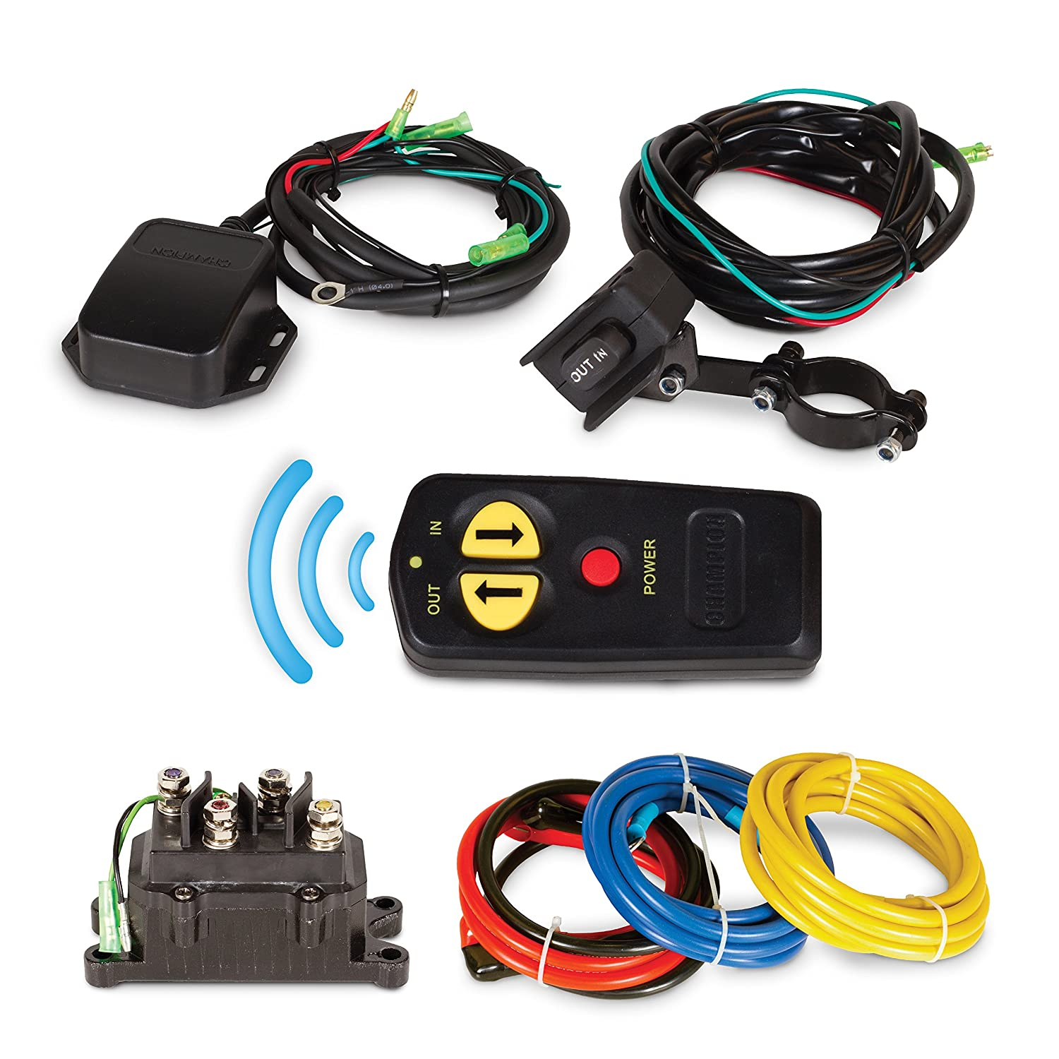 Champion 3000 Pound Winch Wiring Diagram Wireless Remote Control Kit For Or Less Atv Utv Winches Automotive 1500x1500
