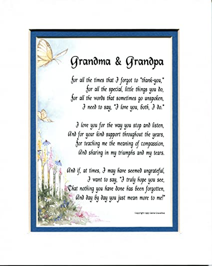Xmas gifts for grandma and grandpa poems