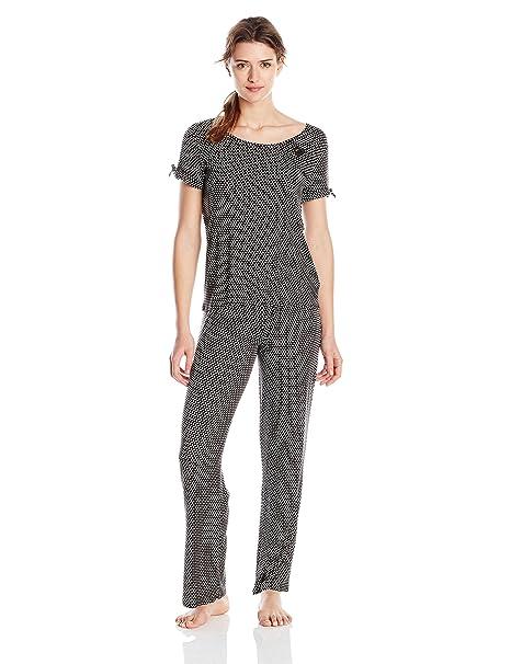Betsey Johnson de la mujer Set de pijama de dos piezas - negro -