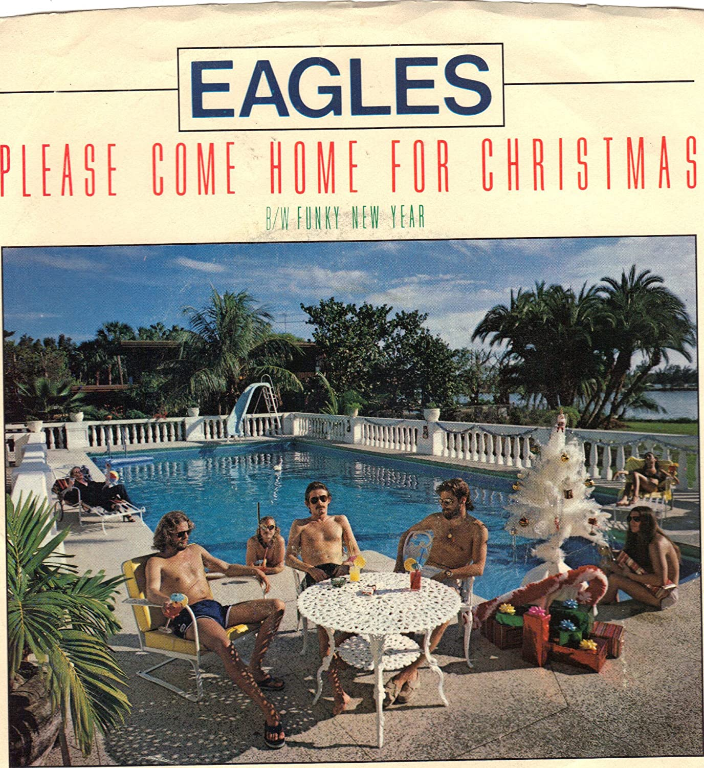 Come Home For Christmas.Eagles Eagles Please Come Home For Christmas 45rpm Record