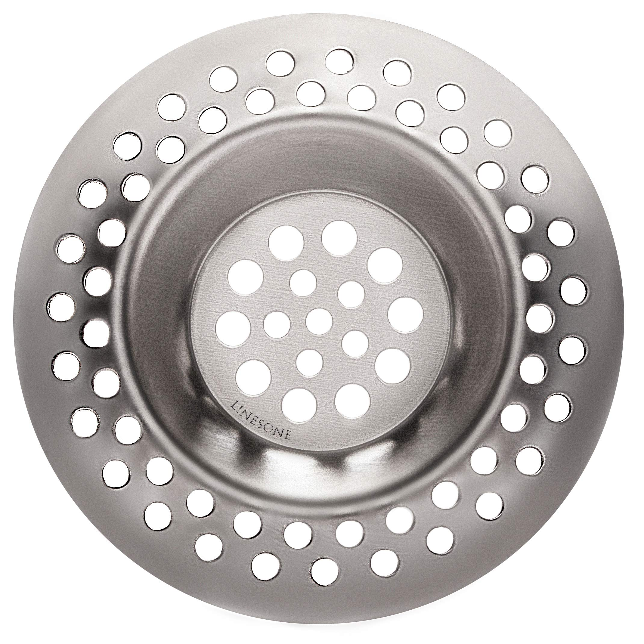 Lines One Portable Steel Hair Catcher, Standard Strainer Drain Protector from Clog for Bathroom,