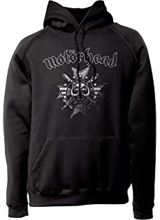 LaMAGLIERIA Sudadera Unisex Motörhead - Cross Artwork - Sudadera con Capucha Heavy Metal Rock Band