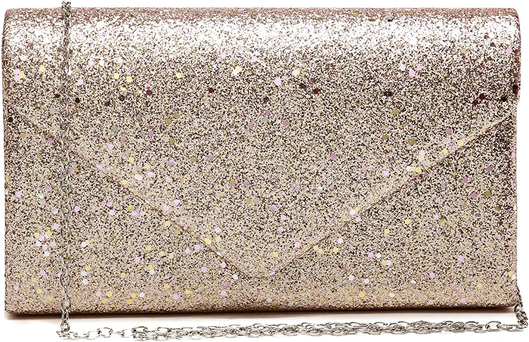 glistening clutch purse