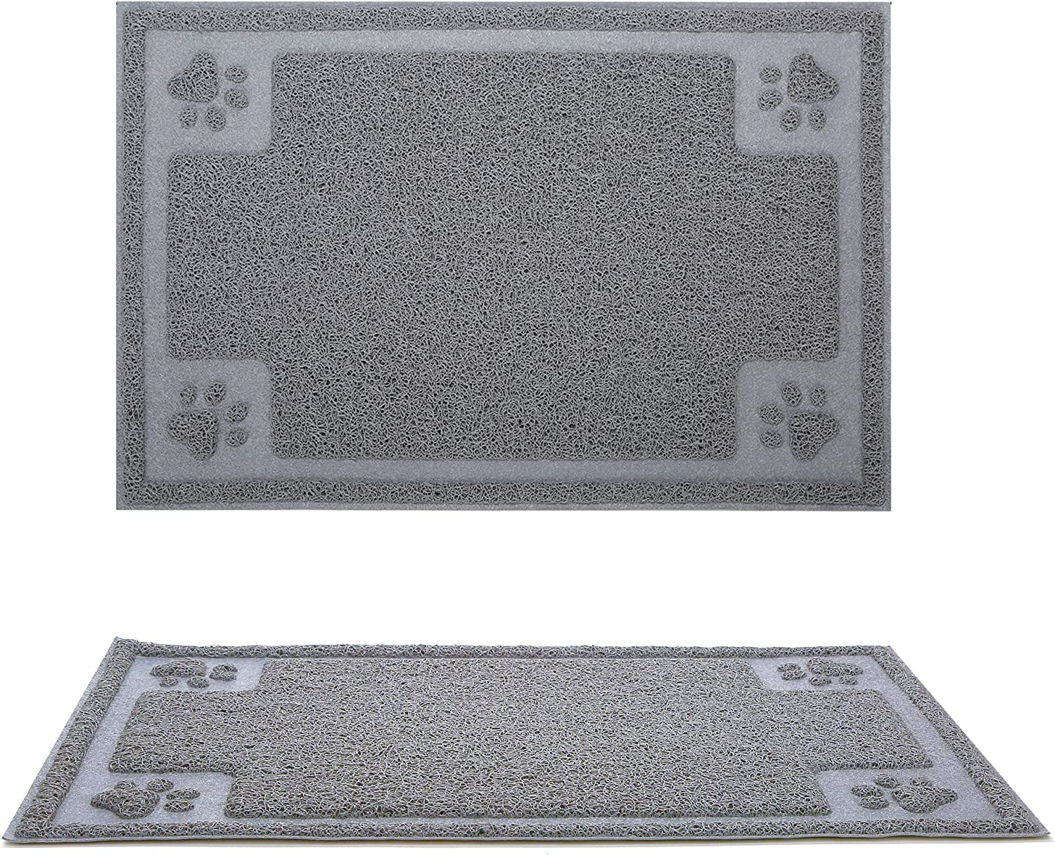 Gefryco Pet Dog Feeding Mats for Food and Water Bowl, Traps Litter from Box and Paws, Flexible Waterproof and Slip Resistant Dogs & Cats Mat
