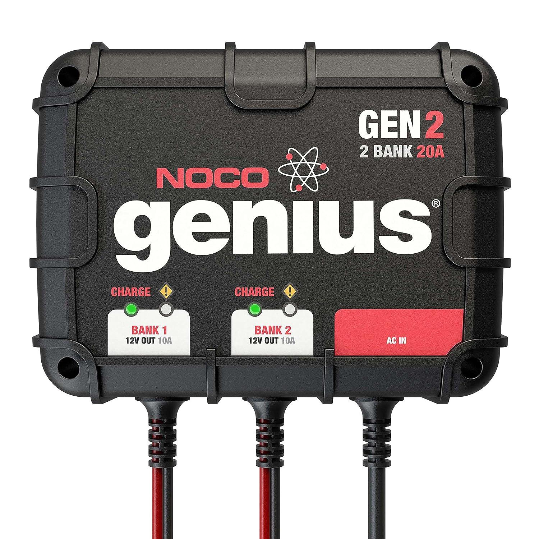 Amazon.com: NOCO Genius GEN2 20 Amp 2-Bank Waterproof Smart On-Board  Battery Charger: Automotive