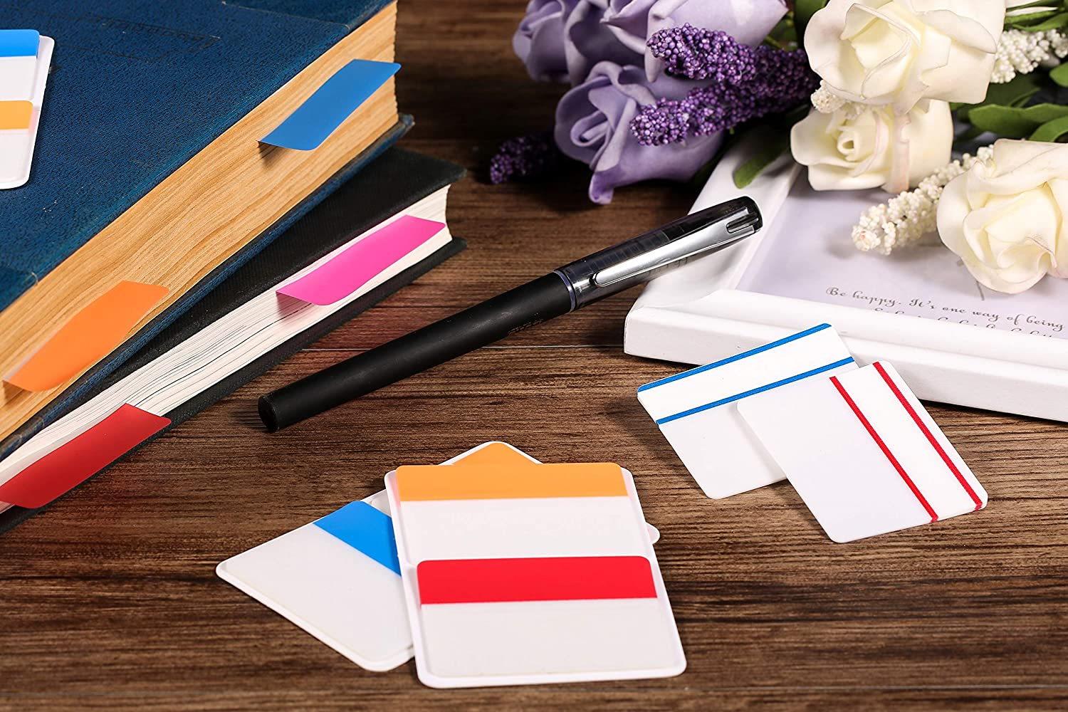 Lysas 400 Pieces Tabs 2 Inch Sticky Index Tabs Repositionable and Writable File Tabs Flags for Book Markers 20 Sets 10 Colors Pages and Classify Files Reading Notes