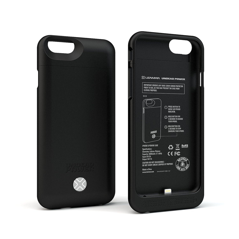 promo code 55799 b2c23 Lenmar iPhone 6s Battery Case - iPhone 6 Battery Case, Portable Charger  Case, iPhone Charger Case 3000mAh [MFI] Charging Case, BLACK