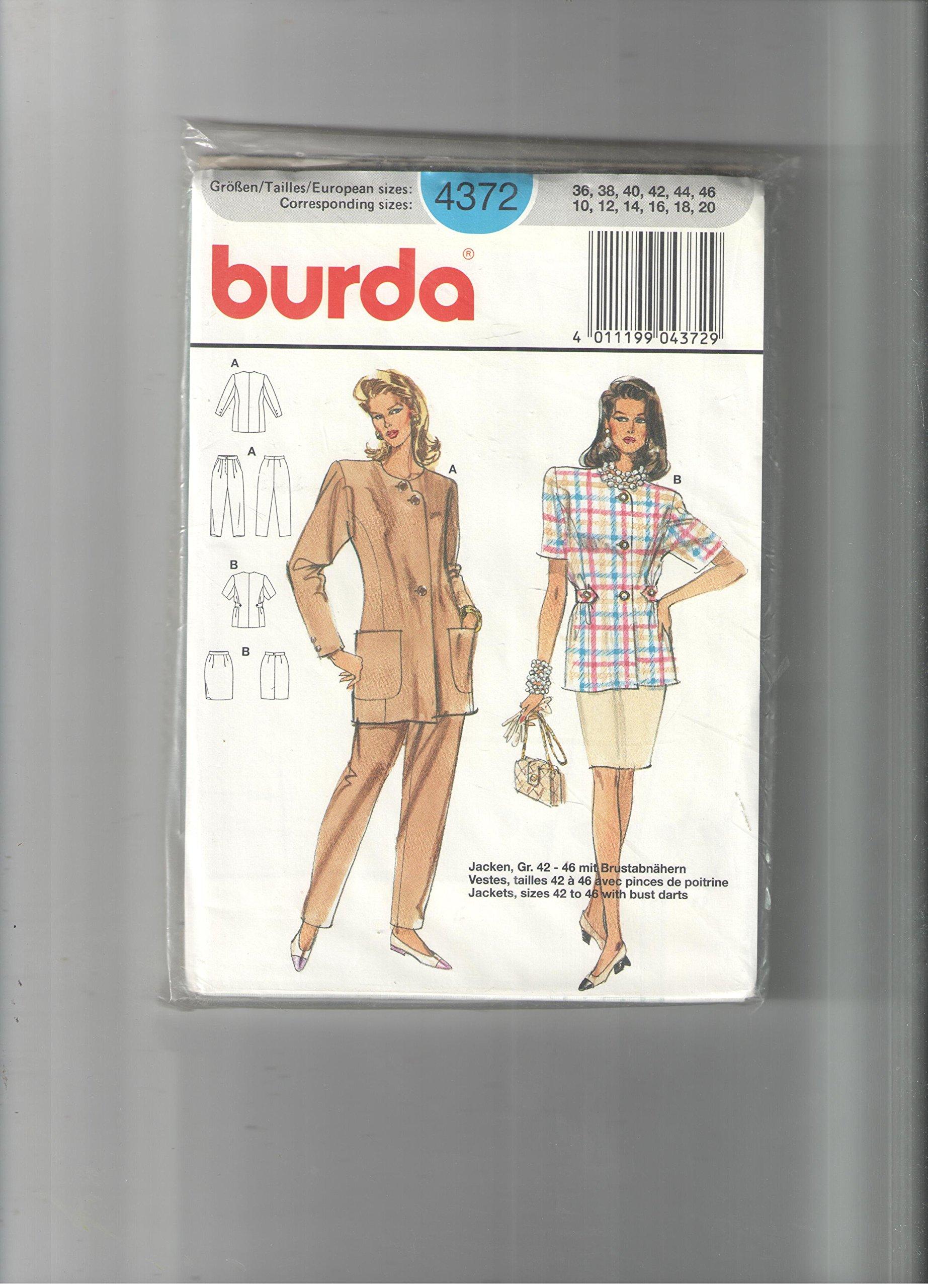 Read Online Burda pattern 4372 *size 10,12,14,16,18,20 pdf epub