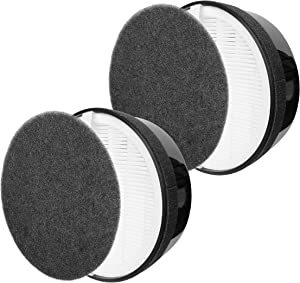 Flintar H13 True HEPA Replacement Filters, Compatible with hOmeLabs True HEPA H13 Air Purifier HME020248N, 3-in-1 High-Efficiency True HEPA Filtration System, 2-Pack