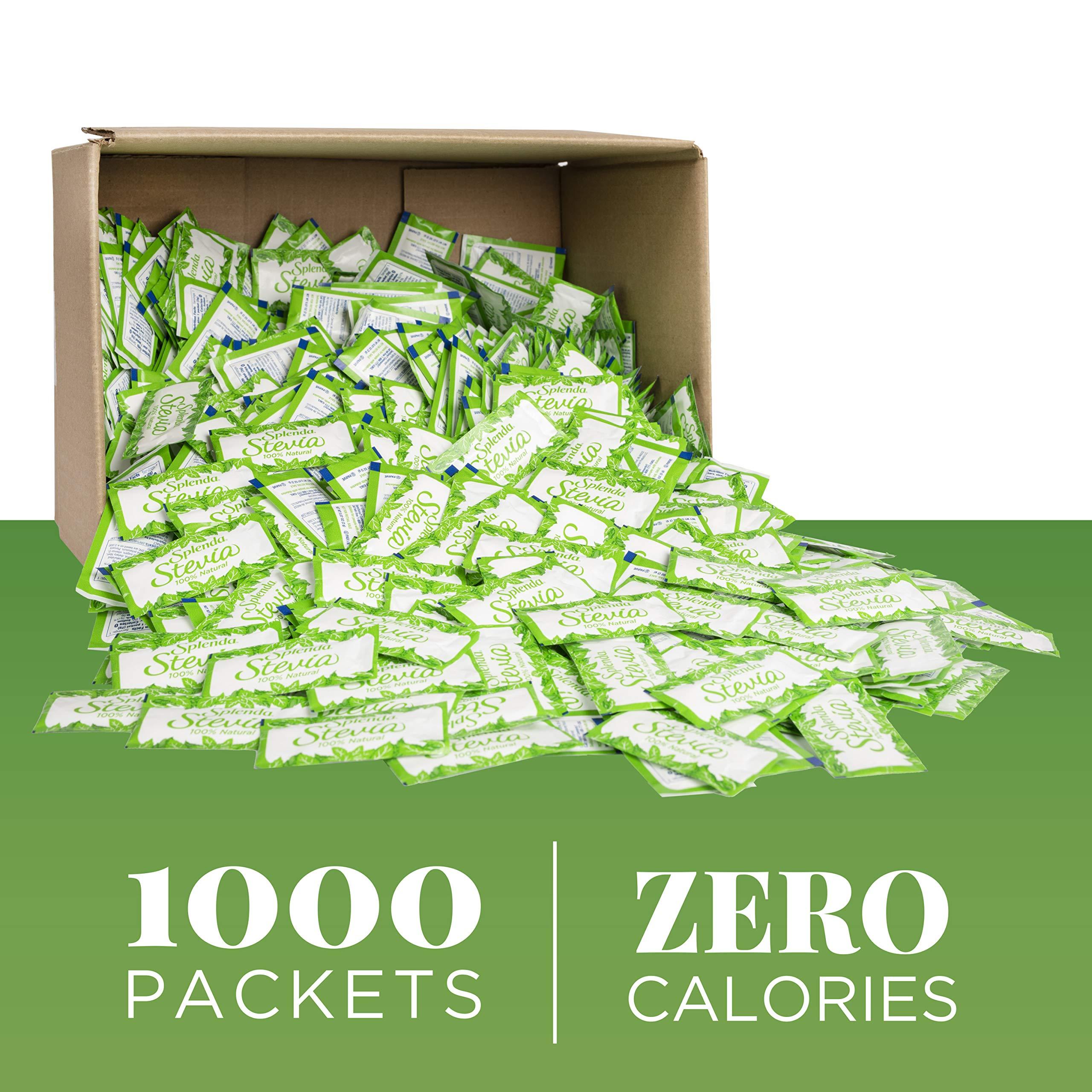 Splenda Naturals Stevia Sweetener: No Calorie, Natural Sugar Substitute w/ No Bitter Aftertaste. Bulk Single-Serve Packets (1000 Count) by Splenda