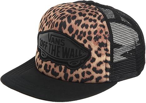 6d87e90317f Vans Beach Girl Juniors Trucker Hat - Leopard Black