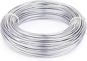 Pandahall 180 Feet Silver Aluminum Craft Wire 12 Gauge Flexible Metal Wire for Jewelry Making