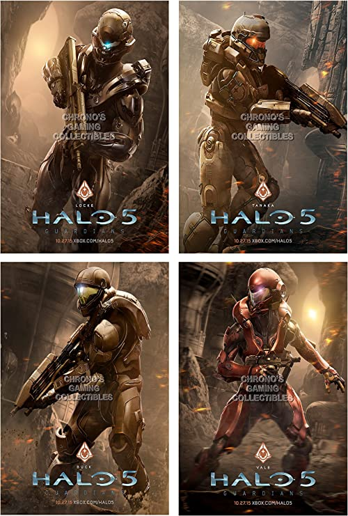 CGC enorme cartel – Halo 5 Locke equipo Set – Xbox 360 One ...