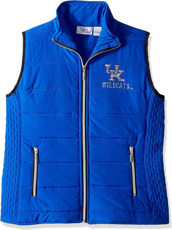 Nitro USA NCAA Kentucky Wildcats Womens Rhinestone UK Royal Blue Quilted Vest