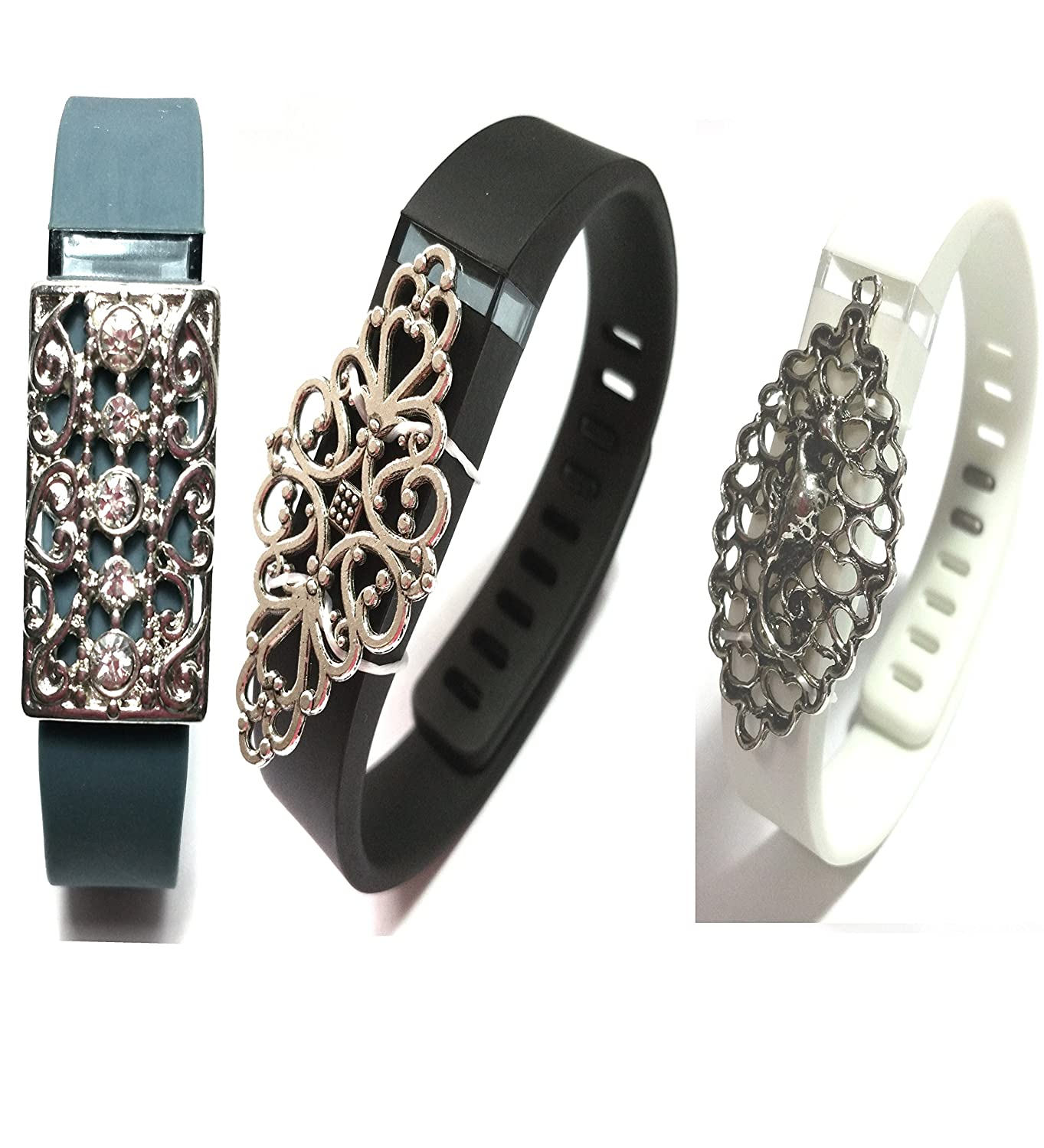 2pcs Fashion Wristband for Fitbit Flex with Clasp Wireless Activity-fitness Band Bling Accessory- Dress Outfit. Relho