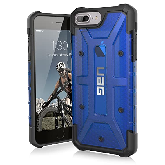 new arrival f94b3 cadd9 Urban Armor Gear UAG Military Drop Tested Plasma Feather-Light Rugged Case  for iPhone 8 Plus/7Plus/6SPlus, 5.5-inch Screen (Cobalt)
