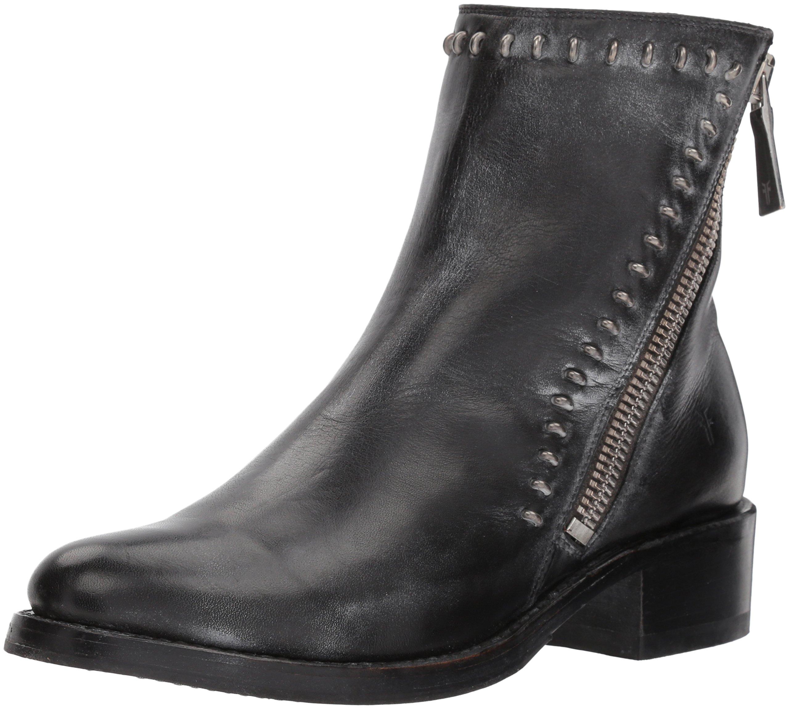 FRYE Women's Demi Rebel Zip Bootie Ankle Boot, Black, 9 M US