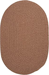 product image for Colonial Mills Charleston Wool-blend Textured Solid Reversible Braided Rug (3' x 5') Mocha