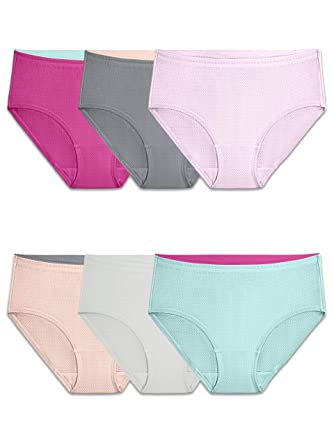 2c7aa33f11b6 Fruit of the Loom Women's Underwear Breathable Panties (Regular & Plus Size),  Micro