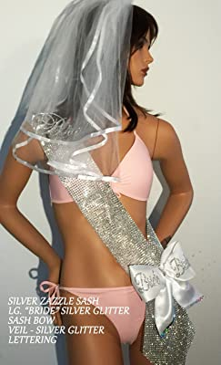 Bride To Be Sash, Blinged out Bachelorette sash. Coordinating Items Veil and/or Bow Sold individually at an add'l cost - by SashANation