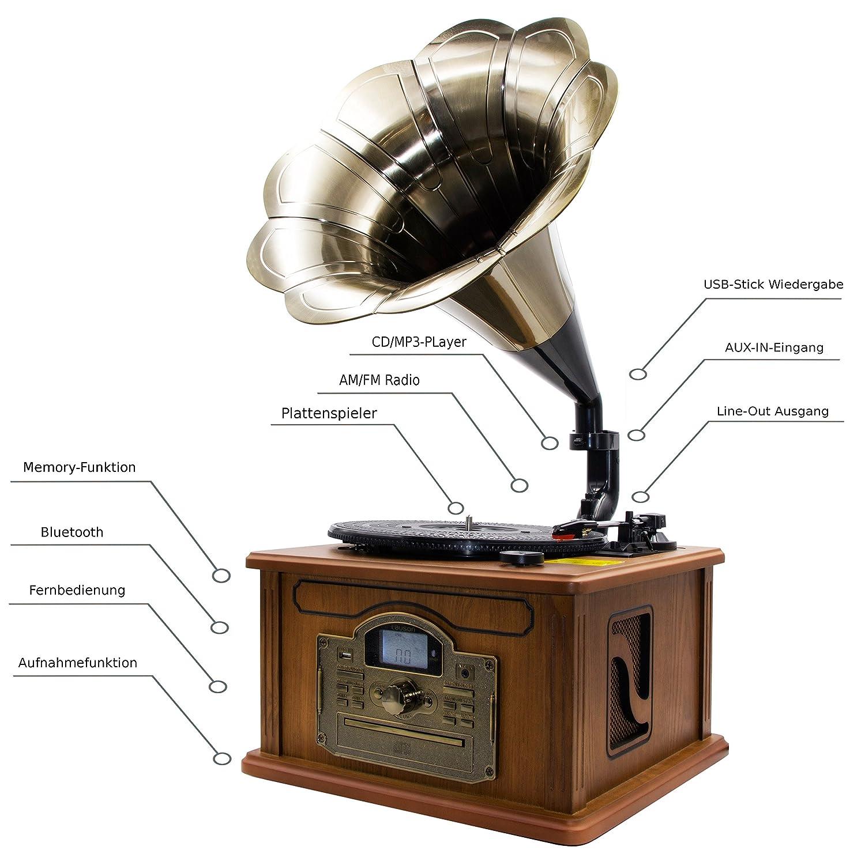 Nostalgie Retro Tocadiscos   Minicadena   Equipo estéreo   Cadena ...