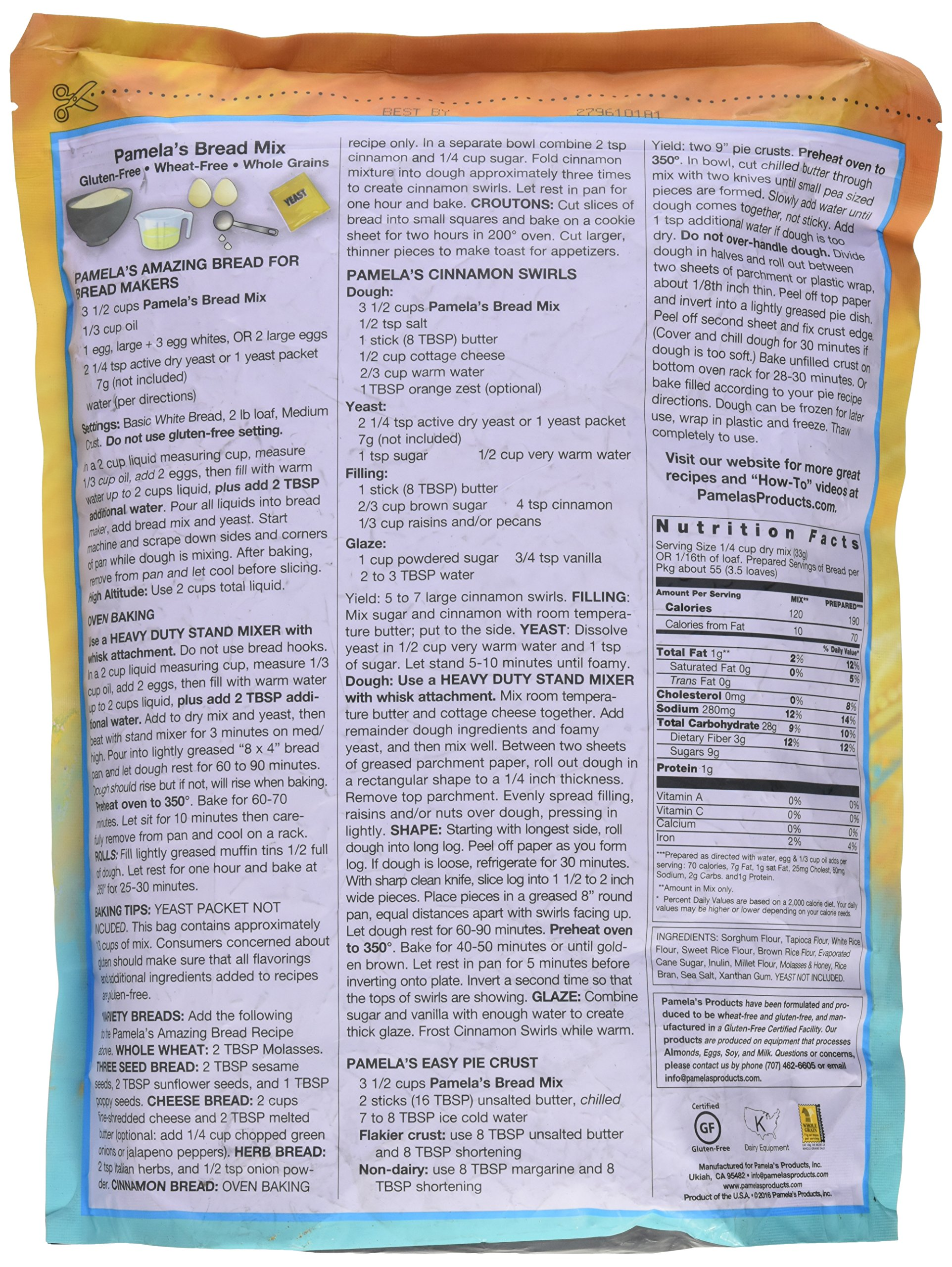 Pamela's Products Amazing Gluten-free Bread Mix, 4-Pound Bag by Pamela's Products (Image #4)