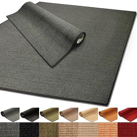 100 Reines Sisal Sisalteppich In Verschiedenen Farben Und Vielen Grossen Grau 80 X 150 Cm
