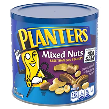 Planters Lightly Salted Mixed Nuts on planters salted peanuts, planters unsalted nuts, planters tube nuts, planters dry roasted peanuts,