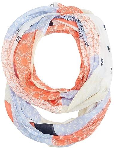 TOM TAILOR Printed Tube, Bufanda para Mujer, Naranja (Porcelain Coral 4712), Talla Única