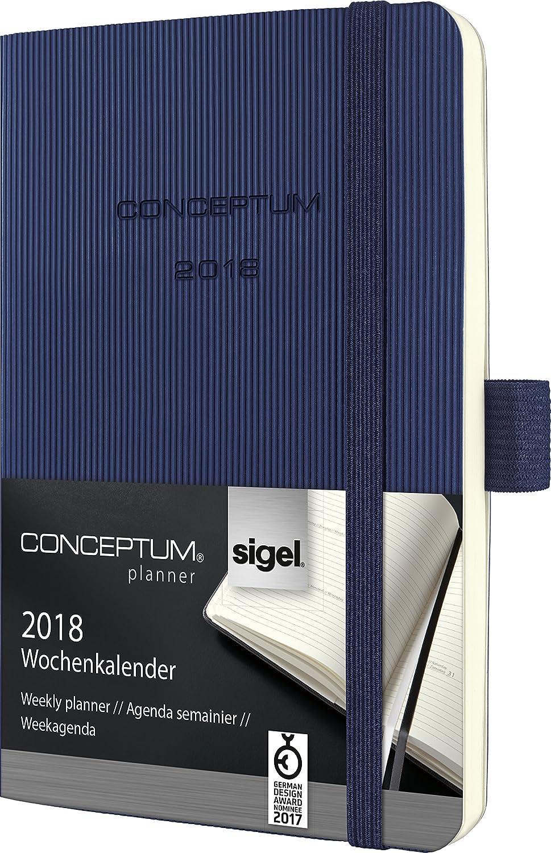 Sigel C1833 - Agenda semanal, color azul oscuro: Amazon.es ...