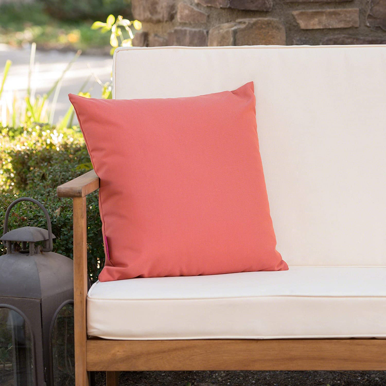 Christopher Coral Pillow, Throw Square Resistant Water Outdoor ...
