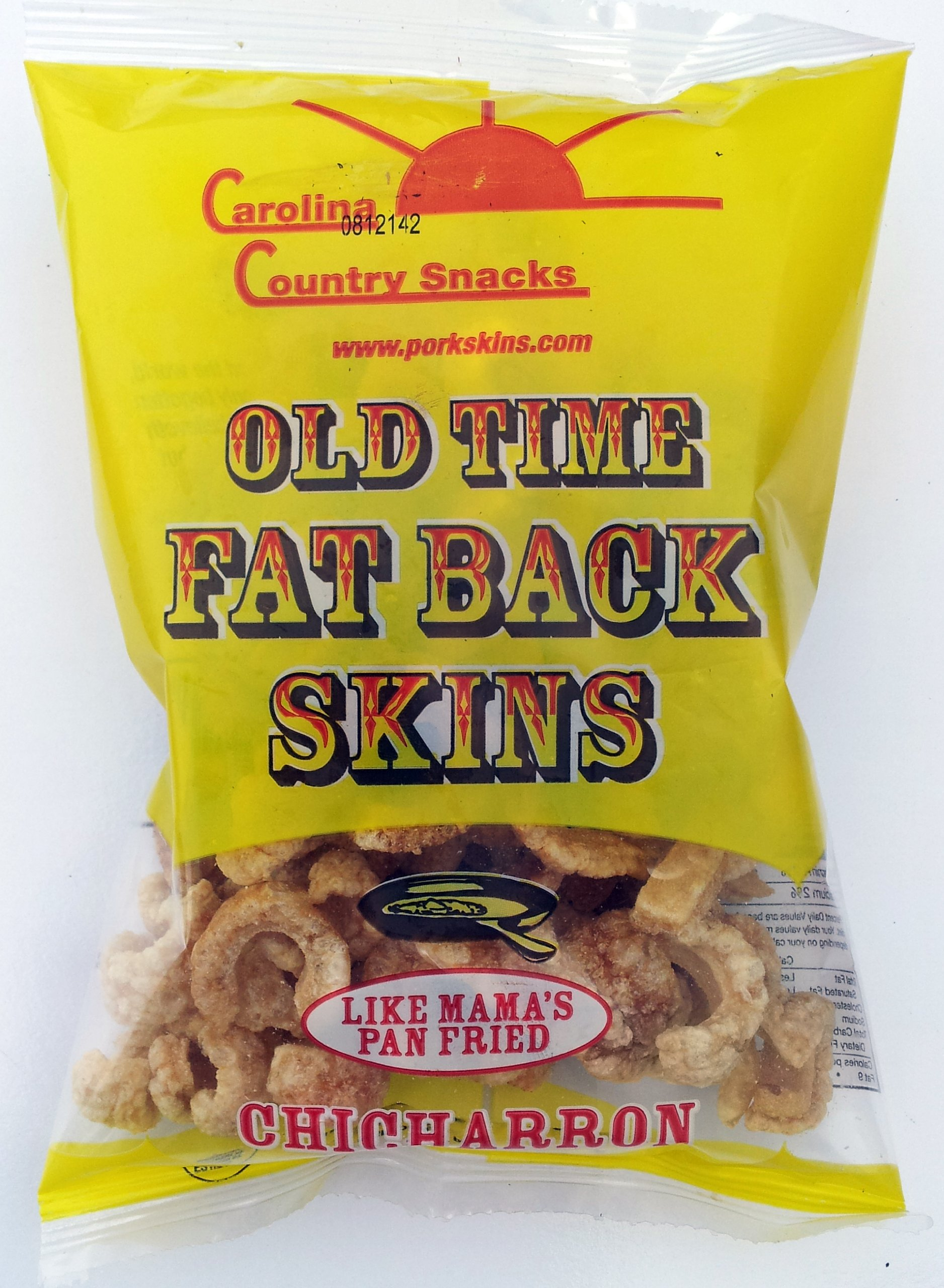Old Time Fat Back Skins Chicharron (Strips) Plain 36 bags (3.5 oz) by Carolina Country Snacks (Image #1)